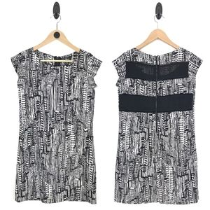 Sam Edelman B/W City Print Shift Dress Small